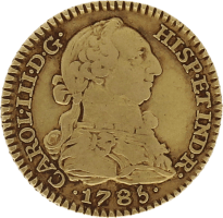 Moneda Carlos III 1 Escudo Oro Madrid DV 3,36 g