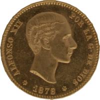 Moneda Alfonso XII 25 Pesetas Oro 1878 DEM 8,09 gr