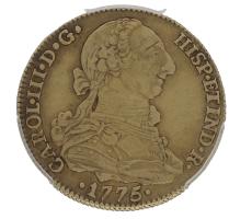Moneda Carlos III 4 Escudos Oro 1775 Sevilla CF