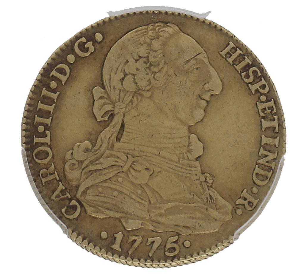 Moneda Carlos III 4 Escudos Oro Sevilla CF