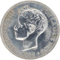 Moneda Alfonso XIII 5 Pesetas Plata SGV 25,03 g