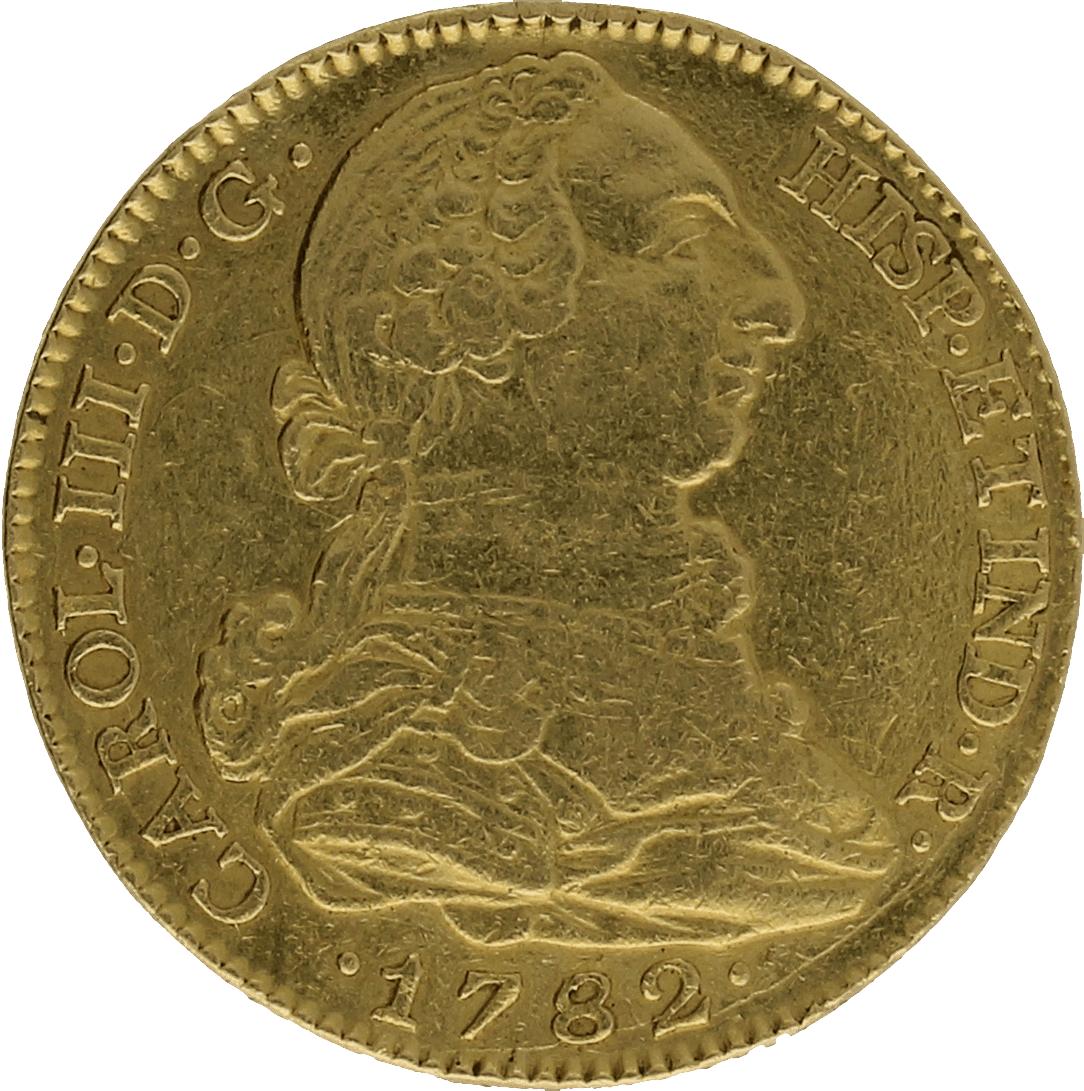 Moneda Carlos III 4 Escudos Oro Madrid JD 13,44 g