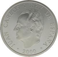 Moneda Juan Carlos I 2000 Pesetas Plata 27 g