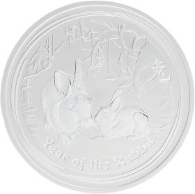 Moneda Australia 1 Dollar Año lunar Conejo Plata 2011 31,10 g