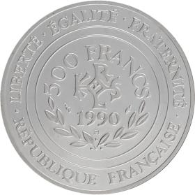 Moneda Francia 500 Francos Platino 1990 19,96 g