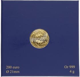 Moneda Francia 200 Euros Oro 2012 4 g