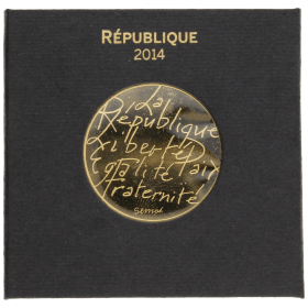 Moneda Francia 500 Euros Oro 2014 9 g