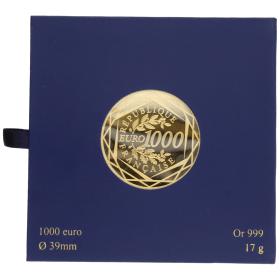 Moneda Francia 1000 Euros Oro 2013 17 g