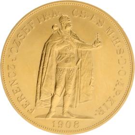 Moneda Hungría 100 Coronas 900 milésimas Oro 1908 33,76 g