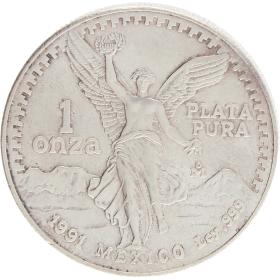 Moneda México Libertad Plata 1991 31,15 g