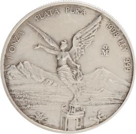 Moneda México Libertad Plata 1998 31,15 g