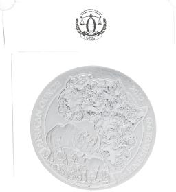 Moneda Ruanda 50 Francs Anafaranga Rinoceronte Blister original Plata 2012 31,10 g