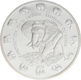 Moneda Benin 1000 Francs Plata 2014 31,19 g