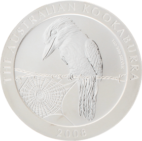 Moneda Australia 1 Dollar Kookaburra Plata 2008 31,10 g