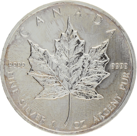 Moneda Canadá 5 Dollars Maple Leaf Plata 2013 31,38 g