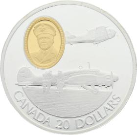 Moneda Canadá 20 Dollars Avro Anson Plata 1990 31 g