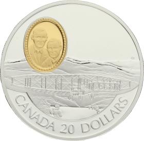 Moneda Canadá 20 Dollars Silver Dart Plata 1991 30,90 g