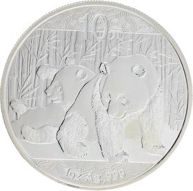 Moneda China 10 Yuan Panda Plata 2010 31,10 g