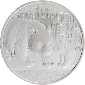 Moneda China 10 Yuan Panda Plata 2011 31,10 g