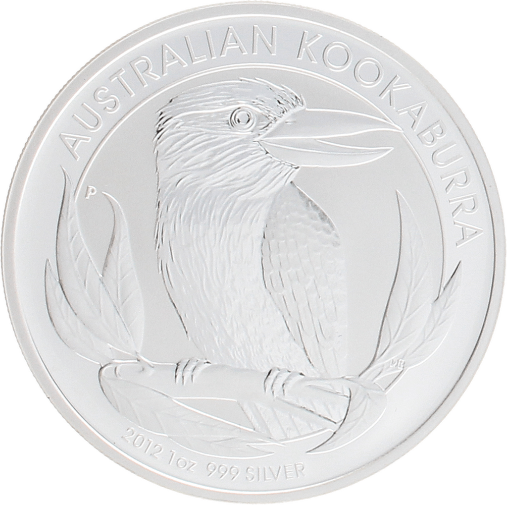 Moneda Australia 1 Dollar Kookaburra Plata 2012 31,10 g