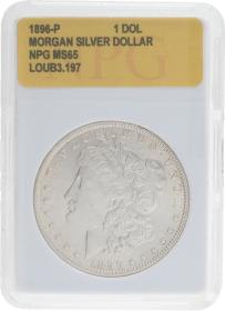 Moneda Estados Unidos 1 Dollar Morgan NPG MS65 Plata 1896 26,70 g