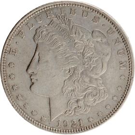 Moneda Estados Unidos 1 Dollar Morgan Plata 1921 26,74 g