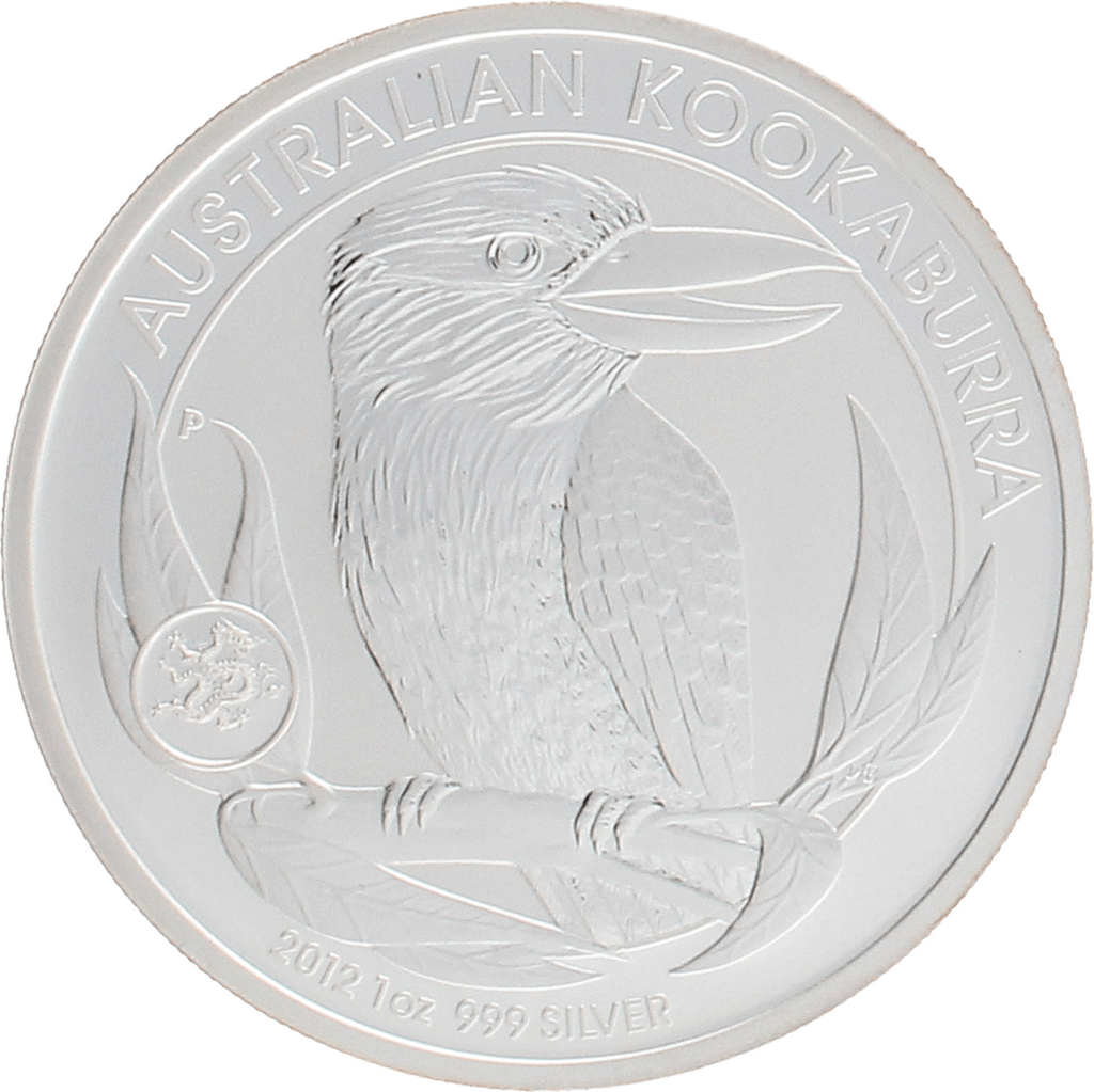 Moneda Australia 1 Dollar Kookaburra Privy Mark Dragon Plata 2012 31,10 g