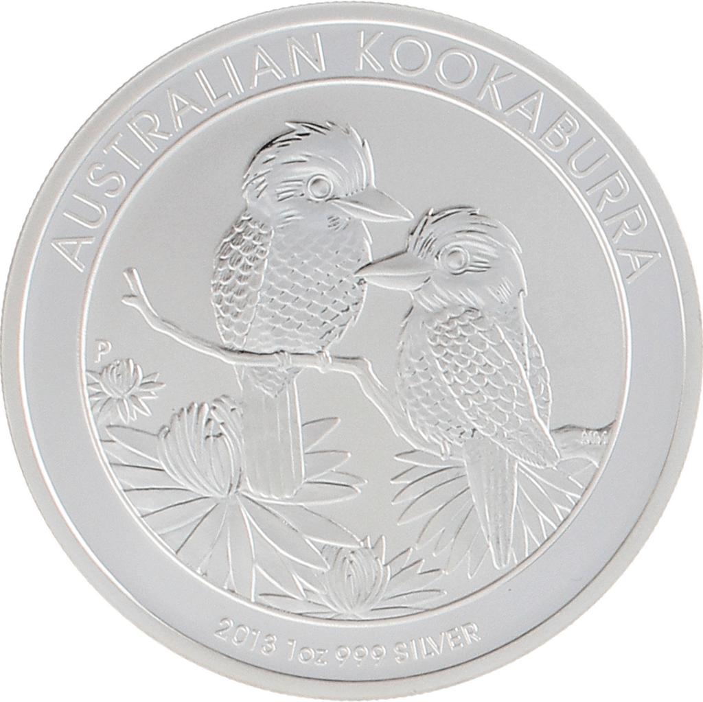 Moneda Australia 1 Dollar Kookaburra Plata 2013 31,10 g