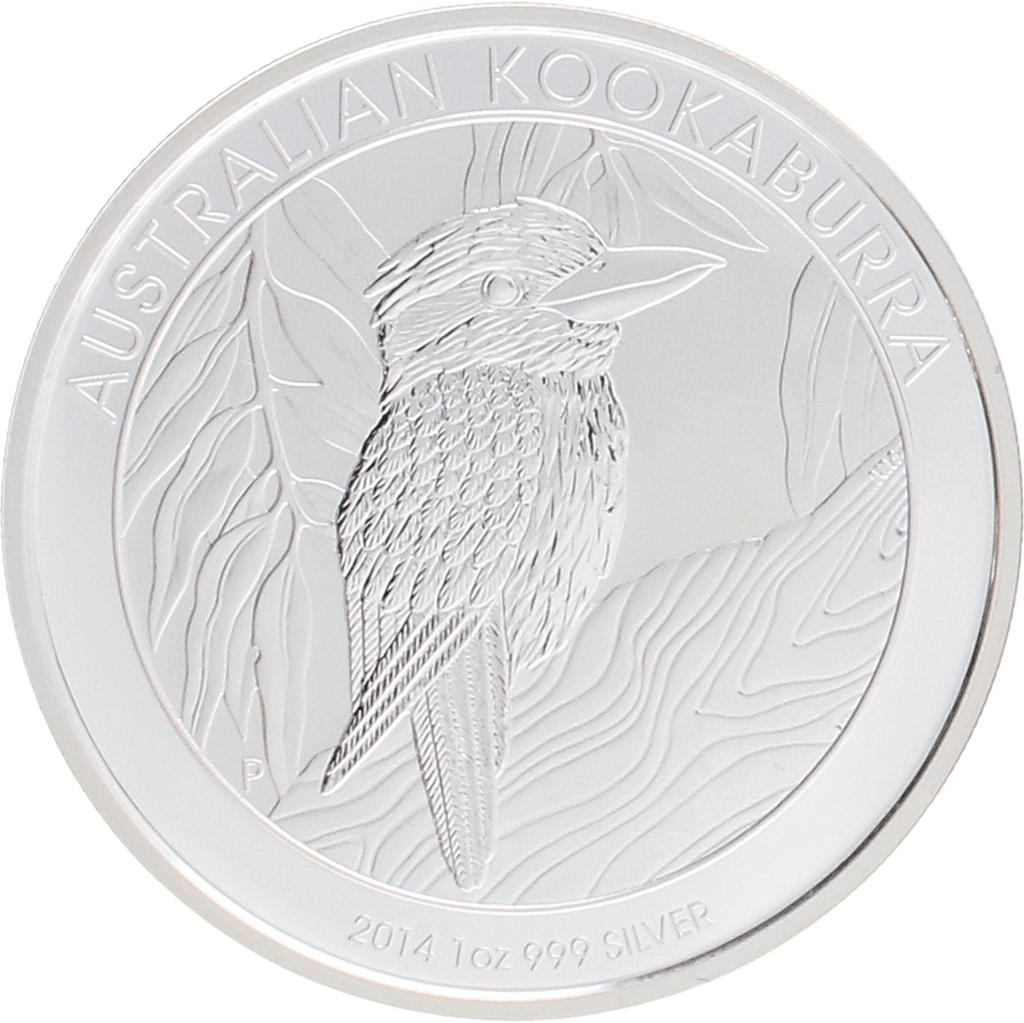 Moneda Australia 1 Dollar Kookaburra Plata 2014 31,10 g