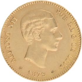 Moneda Alfonso XII 25 Pesetas Oro 1879 8,05 g