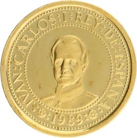 Moneda Juan Carlos I 20.000 Pesetas. Quinto centenario serie I Oro 1989 6,67 g