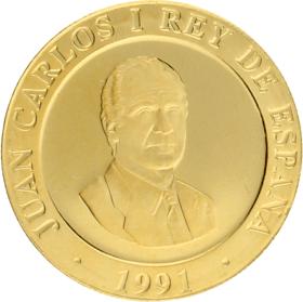 Moneda Juan Carlos I 20.000 Pesetas. Olimpiadas serie III Oro 1991 6,70 g
