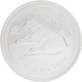 Moneda Australia 1 Dollar Año lunar Tigre Plata 2010 31,10 g