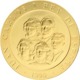 Moneda Juan Carlos I 80.000 Pesetas. Lanzador de Disco Oro 1990 27,08 g