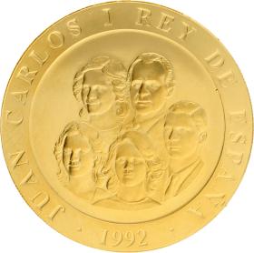 Moneda Juan Carlos I 80.000 Pesetas. Niños jugando Oro 1992 26,93 g