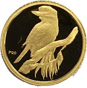Moneda Australia 5 Dollars, Kookaburra P20 Oro 2009 0,05 oz