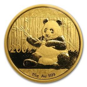 Moneda China Panda de 200 Yuan (Precintada) Oro 2017 15 g