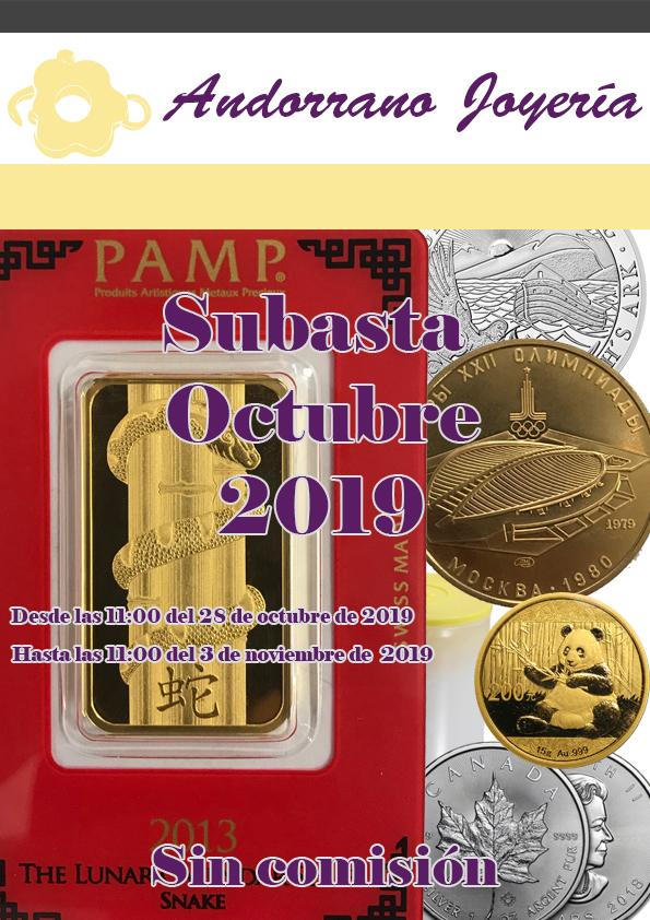 Subasta Octubre 2019