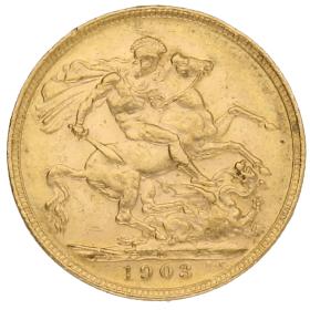 Moneda Australia 1 Libra Soberano Oro 1903 Melbourne 7,98 g