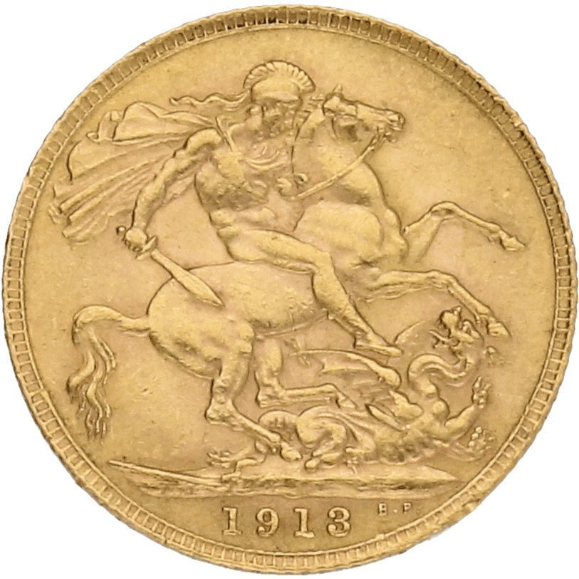 Moneda Reino Unido 1 Libra Soberano Oro 7,97 g