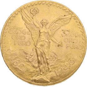 Moneda México 50 Pesos Oro 1943 41,67 g