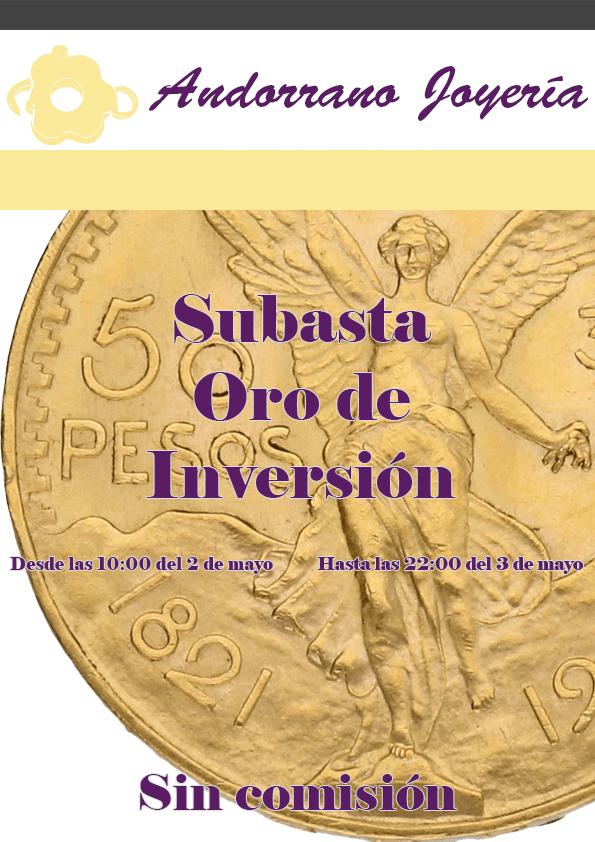 Subasta Oro de Inversión