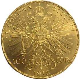 Moneda Austria 100 Coronas Oro 1915 33,86 g