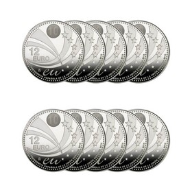 Lote de 12 Euros*10 Monedas de Plata 180 g