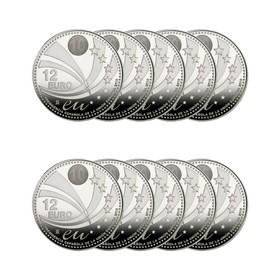 Lote de 10 Monedas españolas de Plata de 12 Euros 180 g