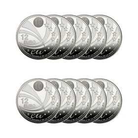 Lote de 10 Monedas de Plata de España de 12 Euros 180 g