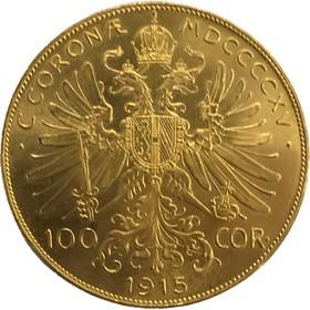 Moneda Austria 100 Coronas Oro 1915 33,91 g
