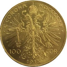 Moneda Austria 100 Coronas Oro 1915 33,83 g