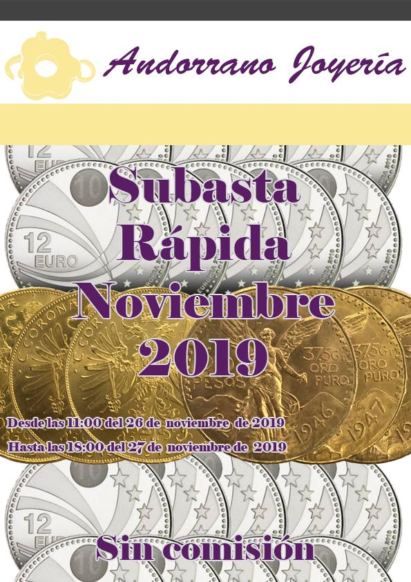 Subasta Rápida Noviembre 2019