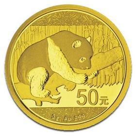Moneda China Panda de 50 Yuan (Precintada) Oro 2016 3 g